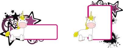 Unicorn plush baby toy cute cartoon copyspace. In vector format royalty free illustration