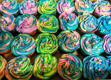 Unicorn poop cupcakes Stock Photography