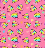 Unicorn poop on pink background royalty free illustration