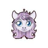 Unicorn portrait illustration Royalty Free Stock Image