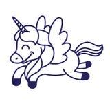 Unicorn print vector illustration