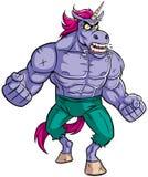 Unicorn Rage 2 illustrazione di stock