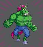 Unicorn Rage Royalty Free Stock Photo