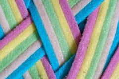 Unicorn Rainbow candy stripes. Background close up Royalty Free Stock Image