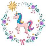 Unicorn Rainbow-illustarion stock abbildung