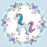 Unicorn Rainbow-Illustration vektor abbildung
