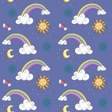 Unicorn Rainbow-Muster vektor abbildung