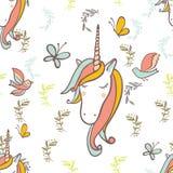 Unicorn Rainbow-patroon Royalty-vrije Stock Foto's