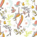 Unicorn Rainbow-patroon Royalty-vrije Stock Afbeelding