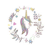 Unicorn Rainbow pattern Stock Photos