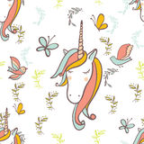 Unicorn Rainbow pattern Royalty Free Stock Photos
