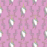 Unicorn Rainbow seamless pattern Stock Photos