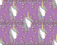 Unicorn Rainbow seamless pattern Stock Photography