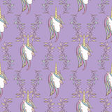 Unicorn Rainbow seamless pattern Stock Images