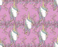 Unicorn Rainbow seamless pattern Royalty Free Stock Photos