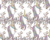 Unicorn Rainbow seamless pattern Royalty Free Stock Image