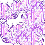 Unicorn seamless pattern 1 Royalty Free Stock Photos