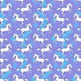 Unicorn seamless pattern 2 Royalty Free Stock Images