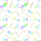 Unicorn seamless pattern. Silhoettes for vector backgrounds and texture Royalty Free Stock Images