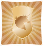 Unicorn shield vector Stock Image