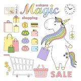 2018.04.22_unicorn shopping vector illustration