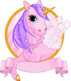 Unicorn sign. Illustration of beautiful unicorn sign royalty free illustration