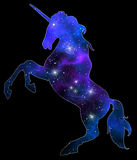 Unicorn silhouette icon logo with rainbow vector illustration