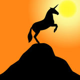 Unicorn silhouette Royalty Free Stock Image