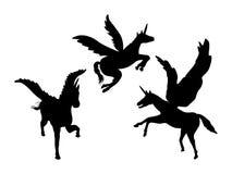 Unicorn Silhouettes Royalty Free Stock Image