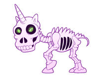 Unicorn skeleton Stock Photography
