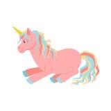 Unicorn is sleeps Royalty Free Stock Photo