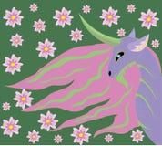 Unicorn spring. Royalty Free Stock Images