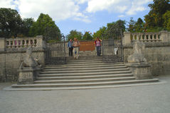 The Unicorn Stairs in the Mirabell Gardens in Salzburg Austria Stock Images