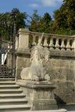 Unicorn Stairs nei giardini di Mirabell a Salisburgo Austria Fotografie Stock