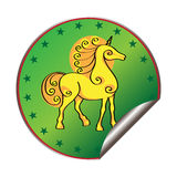 Unicorn sticker Royalty Free Stock Images