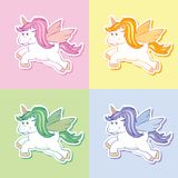 Unicorn stickers Royalty Free Stock Images