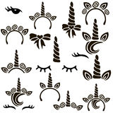 Unicorn symbols set.