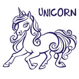 Unicorn. Vector artwork. Coloring book pages for adults and kids Royalty Free Stock Images