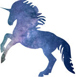 Unicorn. Vector horse picture universe galaxy space cool energy royalty free illustration