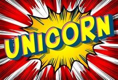 Unicorn - Comic book style words. royalty free illustration