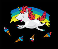 Unicorn Vector Illustration Fotografia Stock