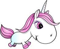 Unicorn Vector Illustration abbastanza bianco Fotografia Stock Libera da Diritti