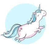 Unicorn. Vector illustration. Cartoon magic unicorn Royalty Free Stock Images