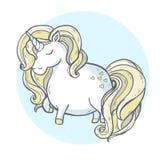 Unicorn. Vector illustration. Cartoon magic unicorn Stock Photos