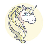 Unicorn. Vector illustration. Cartoon magic unicorn Stock Images