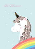 Unicorn - Vector illustration Stock Images