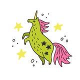 Unicorn Vector lindo Fotos de archivo