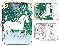 The Unicorn in Winter Royalty Free Stock Photos