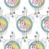 Unicorn Watercolor Seamless Pattern Stock Image
