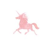 Unicorn  watercolor silhouettes icon isolated Stock Photos